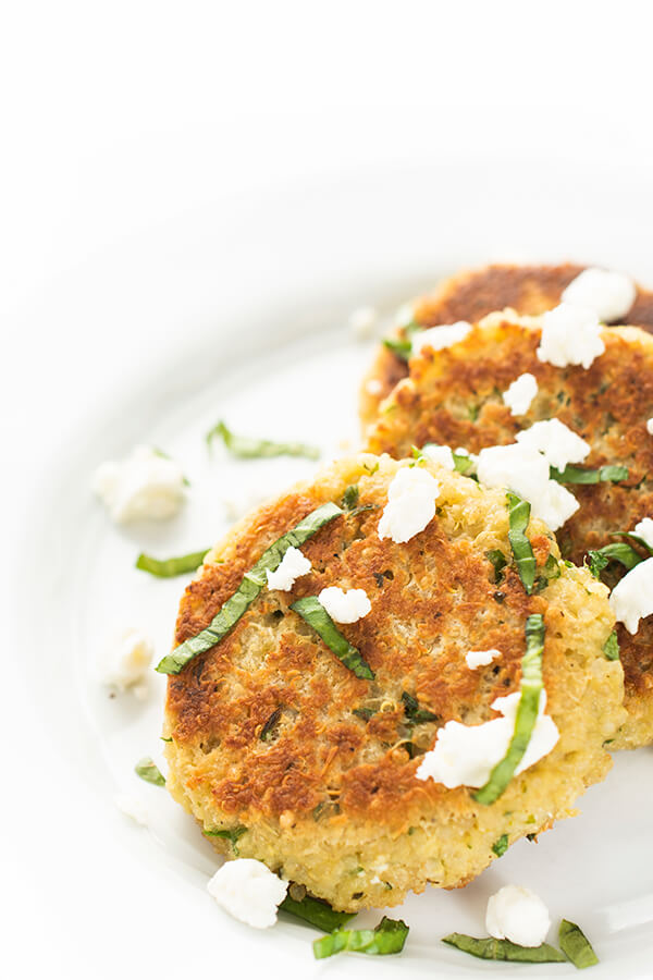 quinoa fritters on a plate