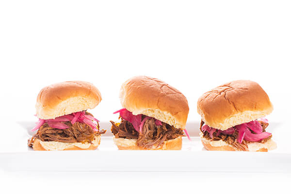 Slow Cooker Shredded Beef Sliders - The Lemon Bowl®