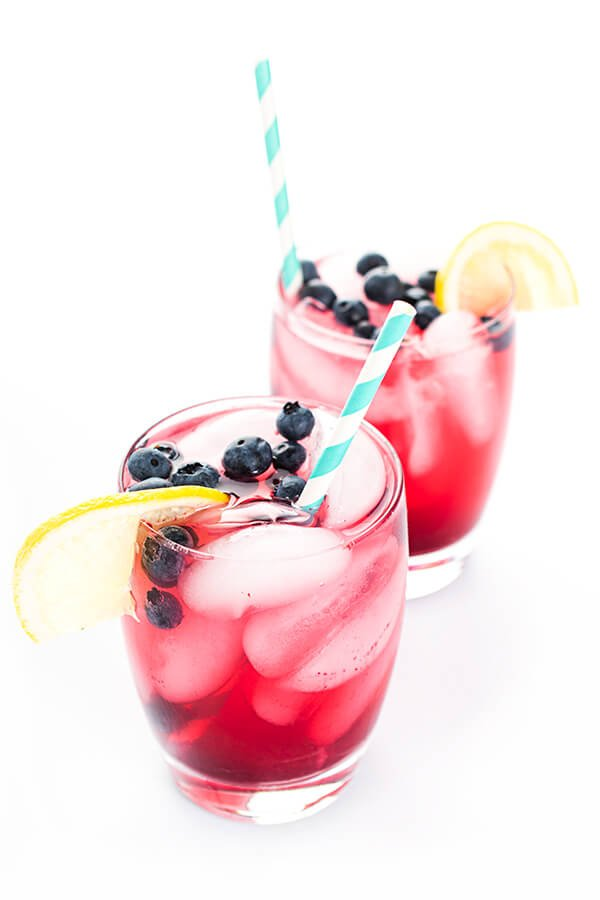 Homemade Blueberry Vodka Lemonade