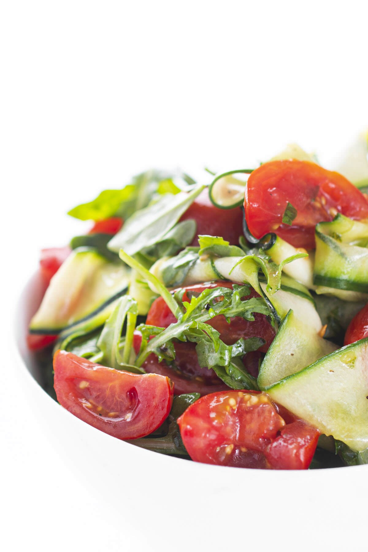 Zucchini Cucumber Salad Closeup