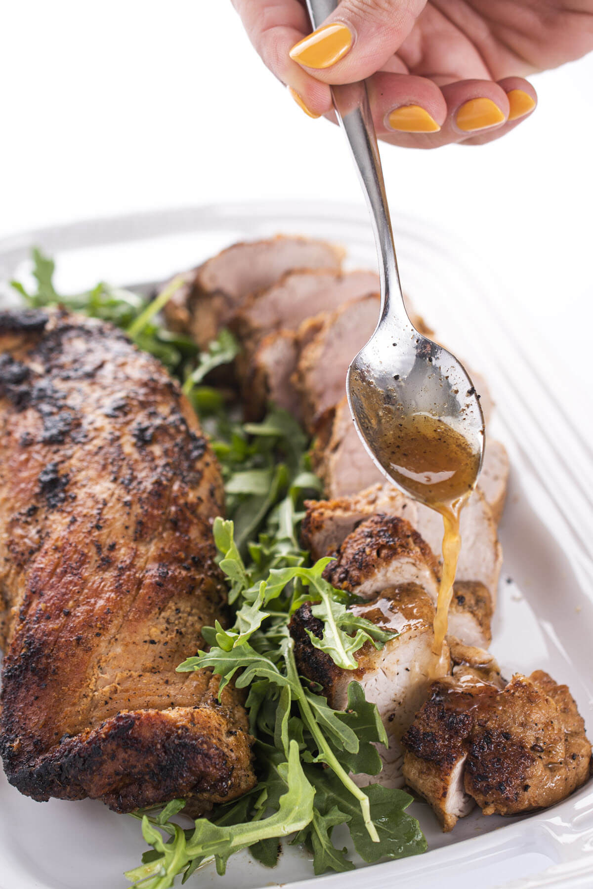 Apple Cider Glazed Roast Pork Tenderloin