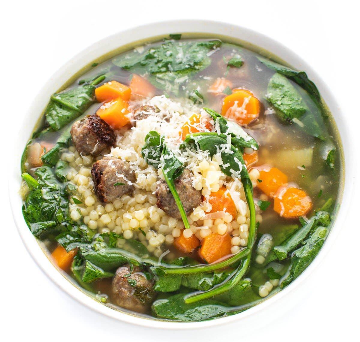 Easy Italian Wedding Soup in a bowl