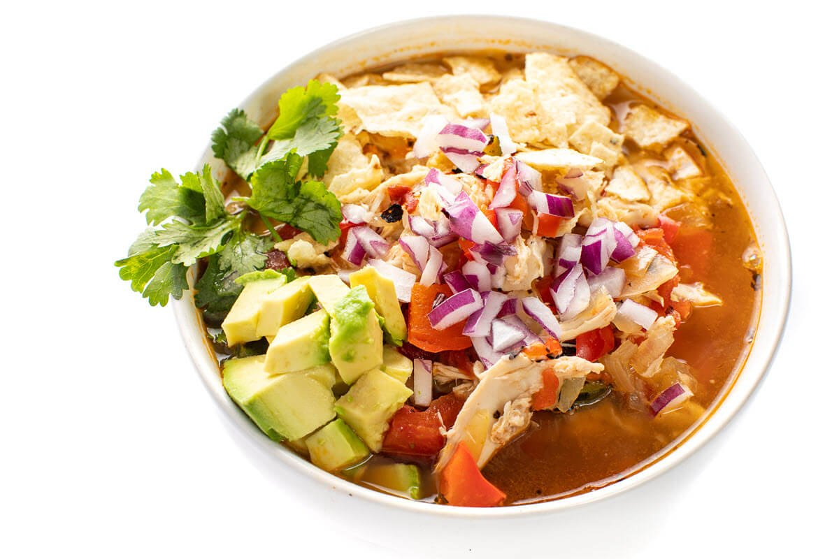 Chicken Tortilla Soup with Hominy - The Lemon Bowl
