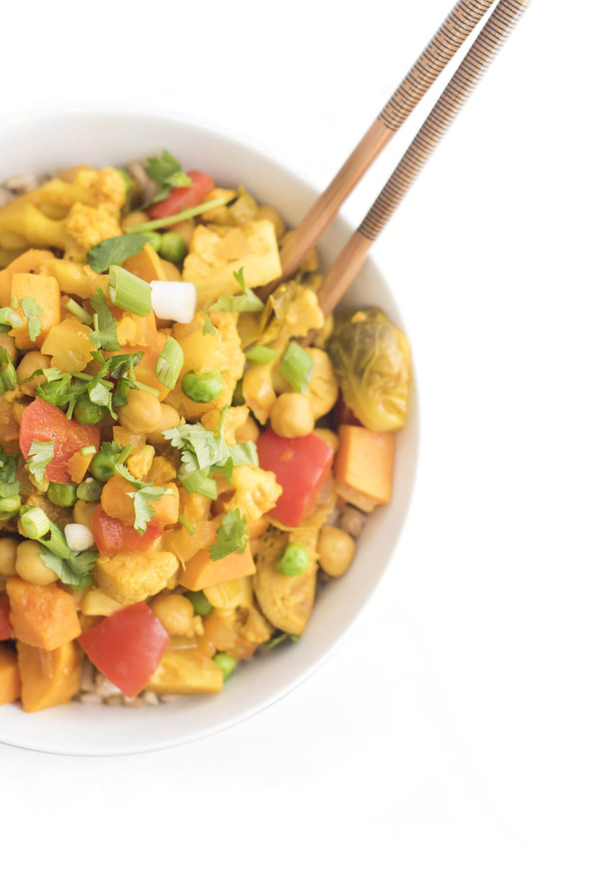 Slow Cooker Vegetable Curry Side View