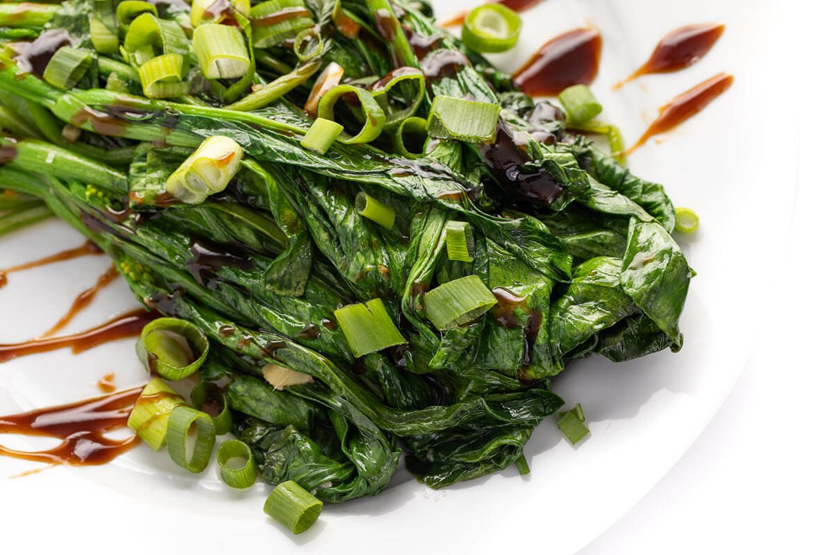 Chinese broccoli with hoisin