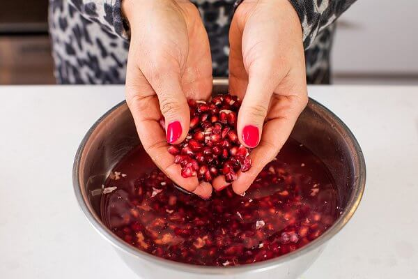 Pomegranates in a bowl