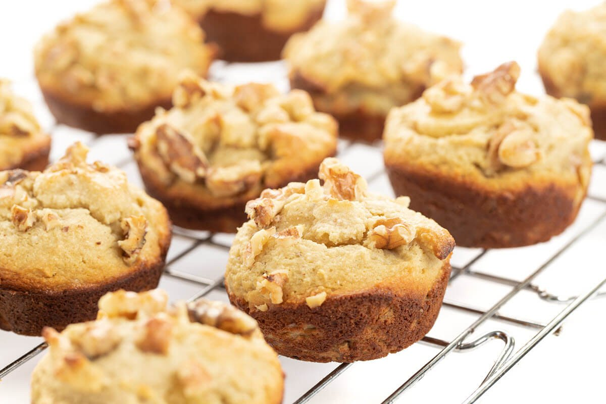 Almond Flour Banana Nut Muffins Gluten Free The Lemon Bowl