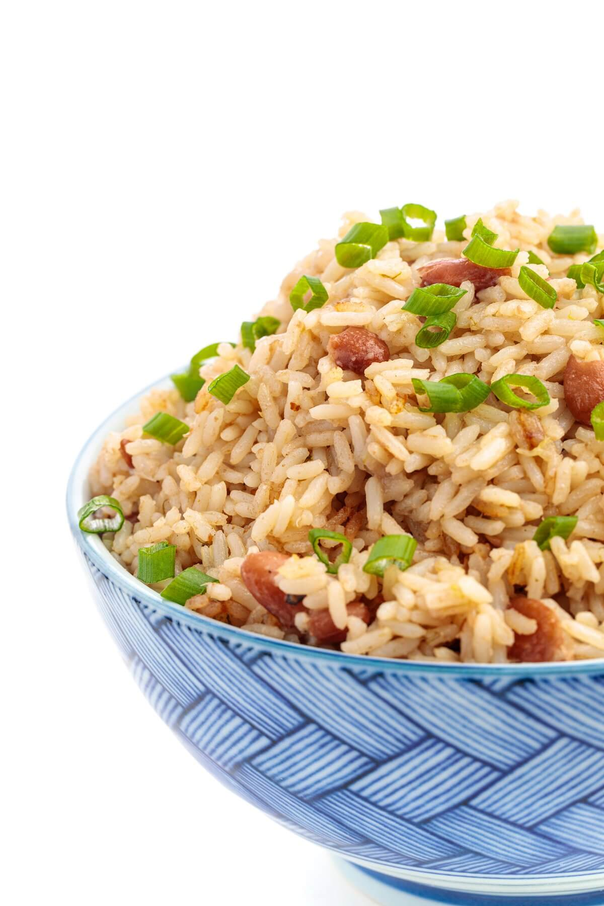 Jamaican Rice and Peas in a bowl