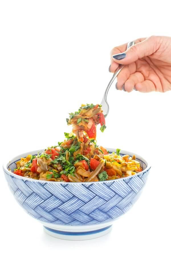 bowl of greek stewed green beans