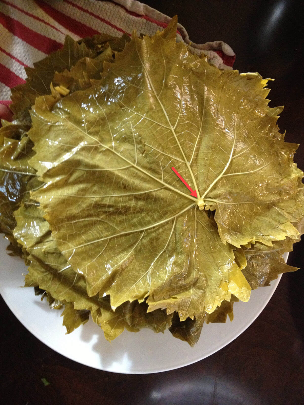 Lebanese Meat Stuffed Grape Leaves Warak Arish The Lemon Bowl