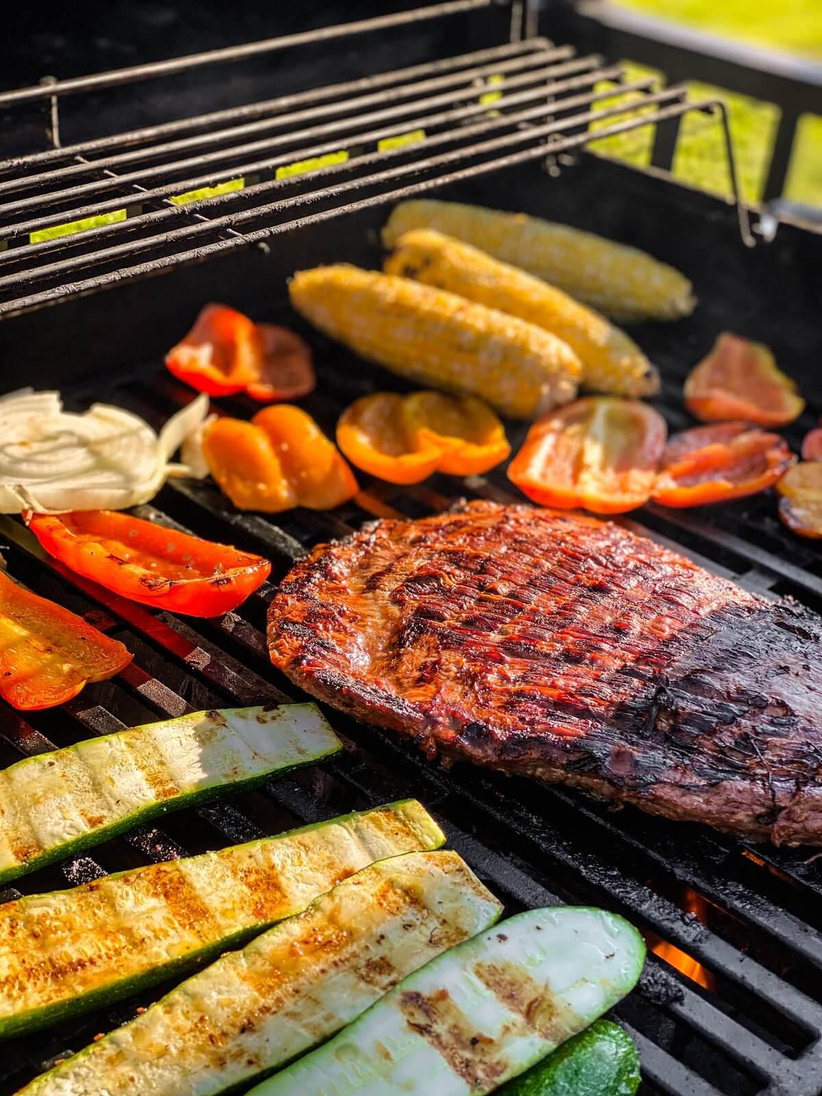 Grilled Teriyaki Beef and Vegetables