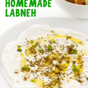 Homemade Labneh pin