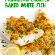 Parmesan Crusted Baked White Fish Pin