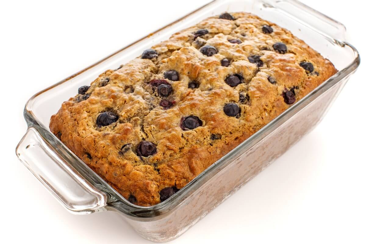 Fresh Baked Blueberry Oatmeal Bread