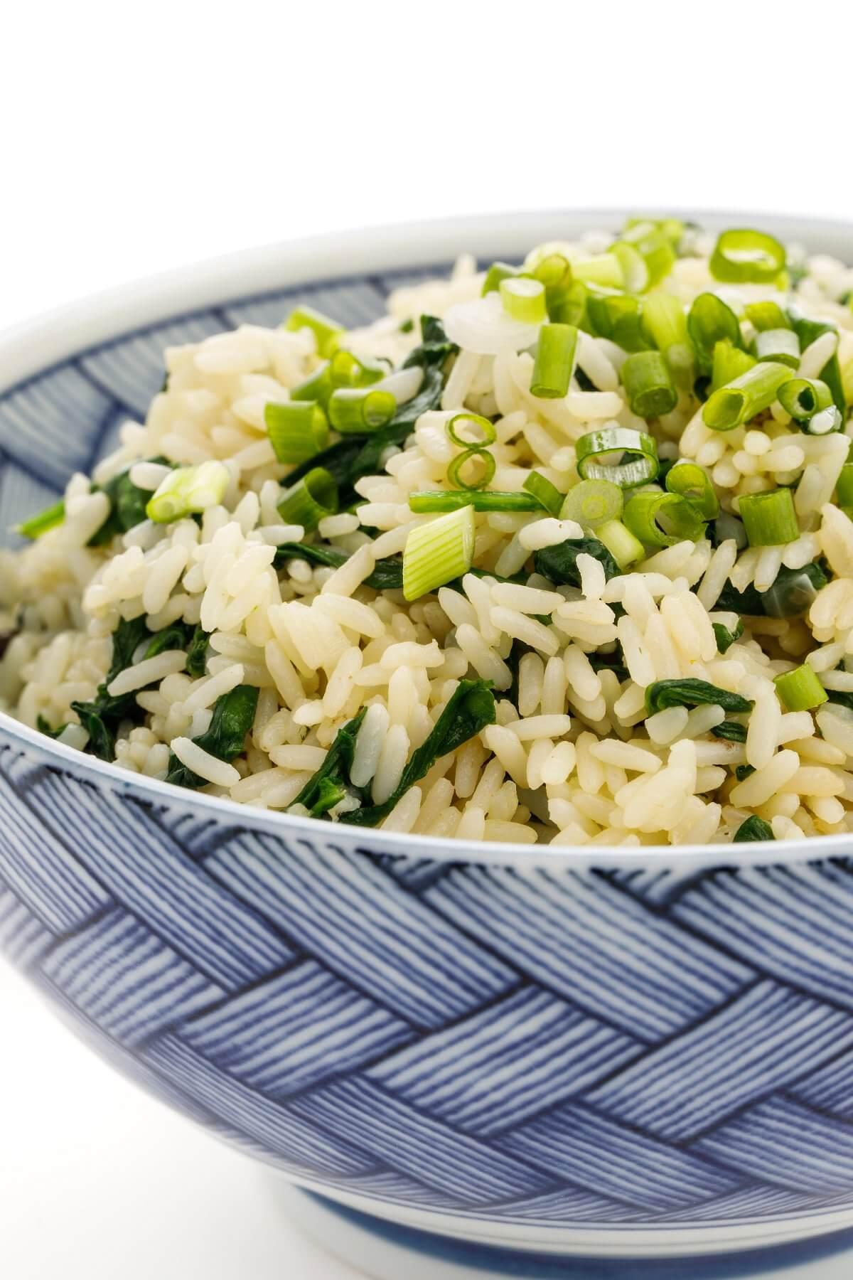 Greek Spinach Rice The Lemon Bowl