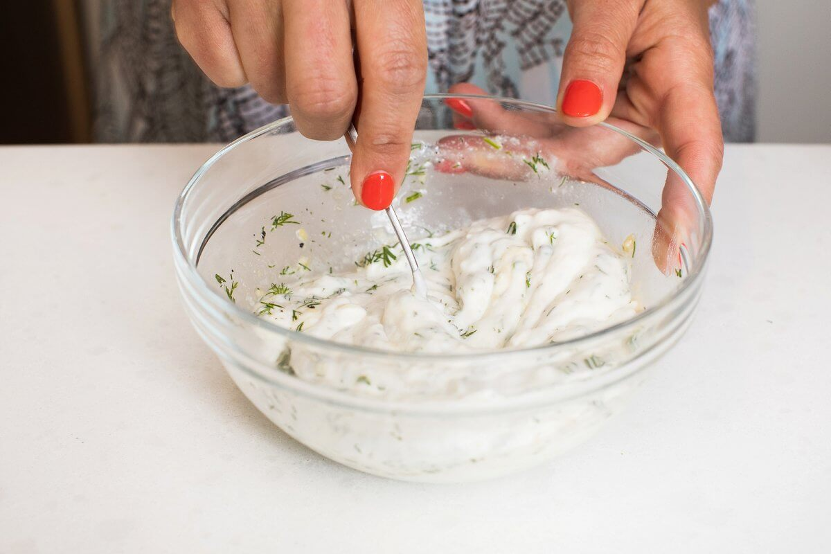 Mixing Dill Ranch Dressing