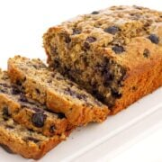 Blueberry Oatmeal Bread on a plate