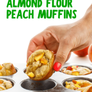 Almond Flour Peach Muffins pin