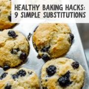 Healthy Baking Hacks pin
