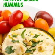 Roasted Garlic Hummus pin