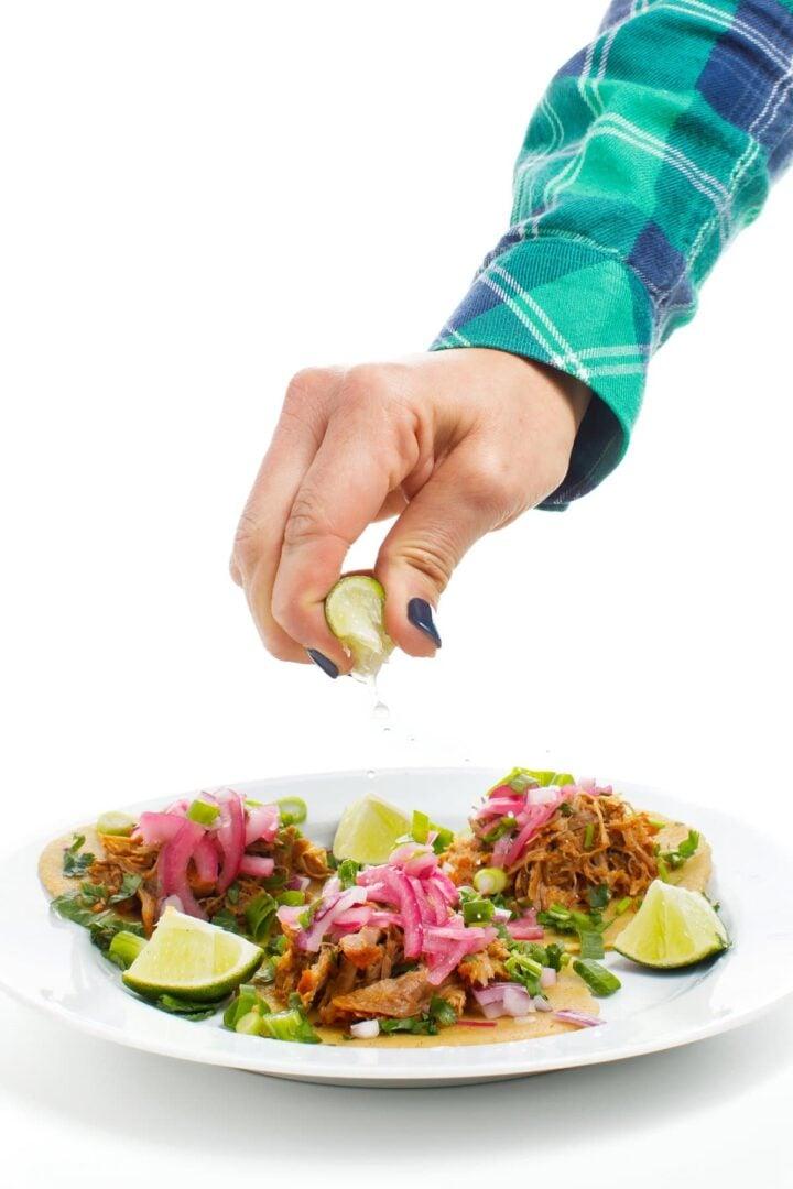 Slow Cooker Cochinita Pibil Tacos