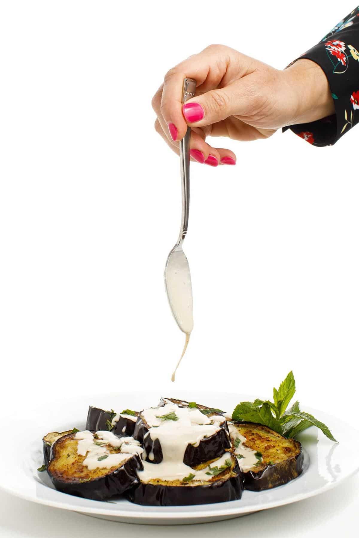 eggplant and tahini