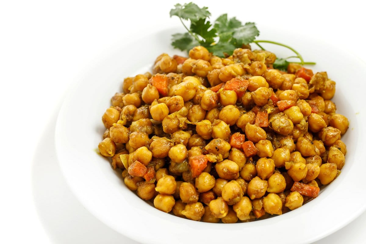 Jamaican Curry Chickpeas on Plate