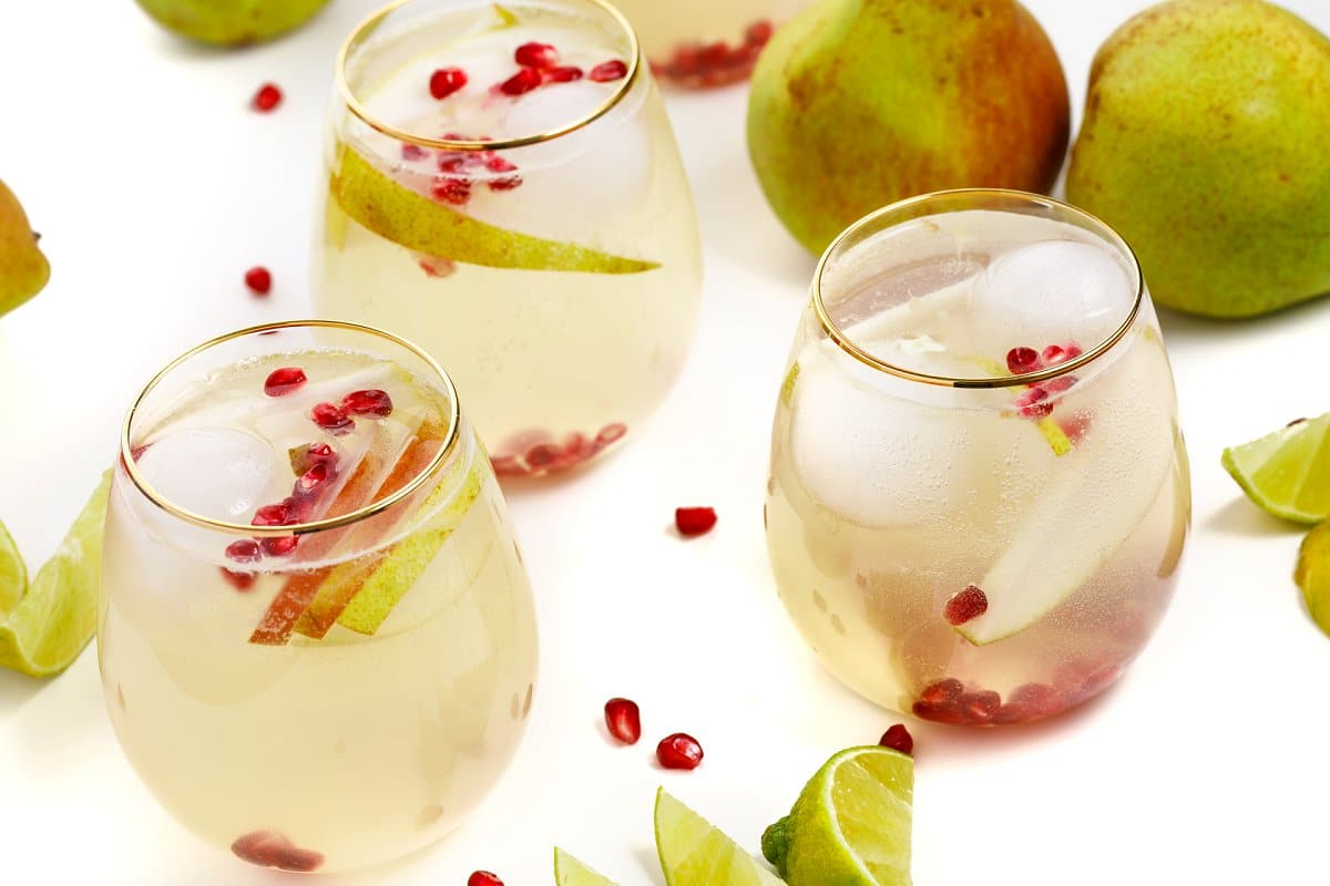 3 Pear Moscow Mule Cocktails
