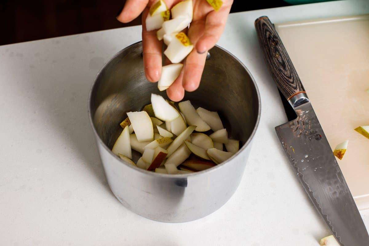 Pear Simple Syrup Ingredients