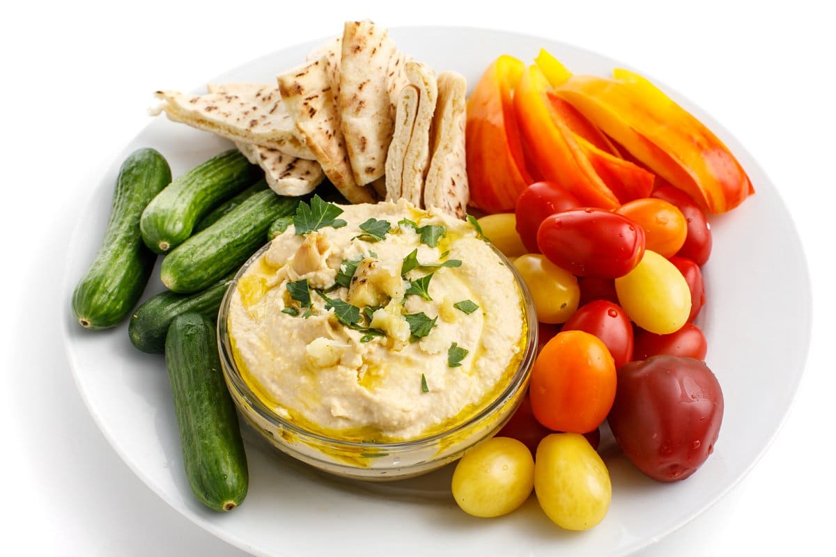 garlic roasted hummus appetizer