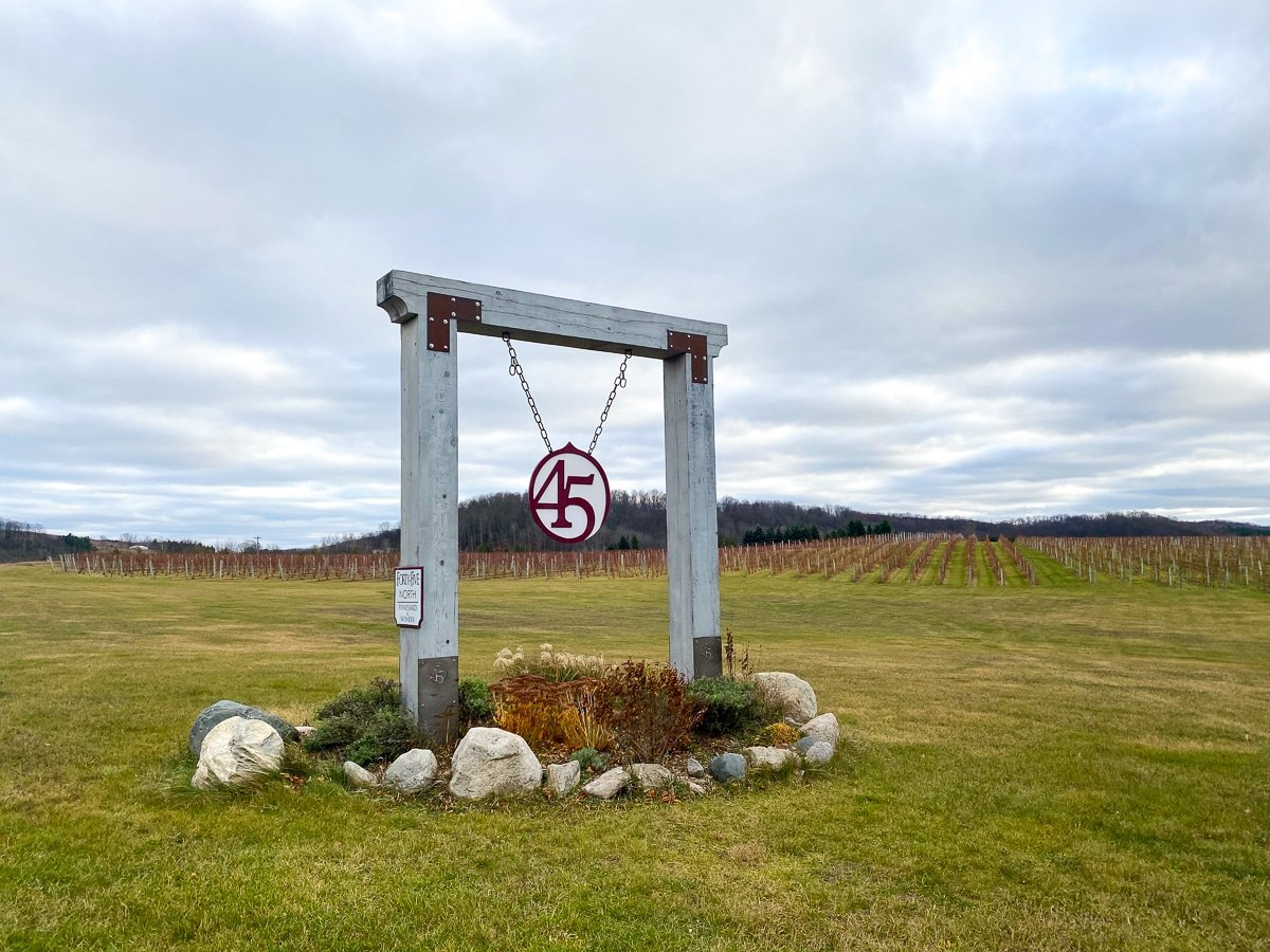 45-North winery sign