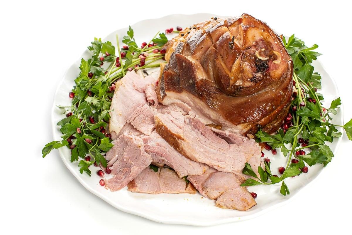 Ham on plate