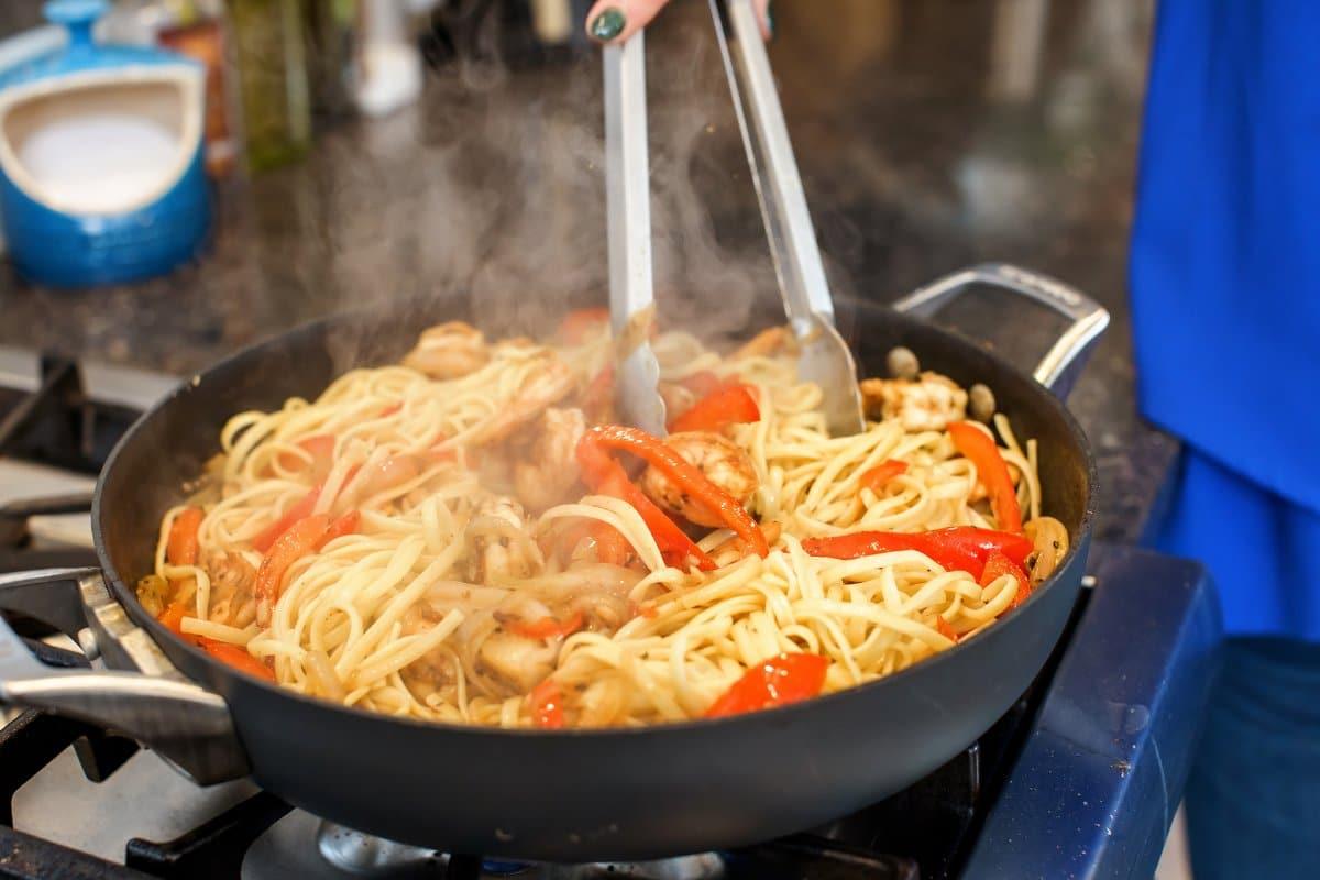 Cooking Cajun Shrimp Pasta