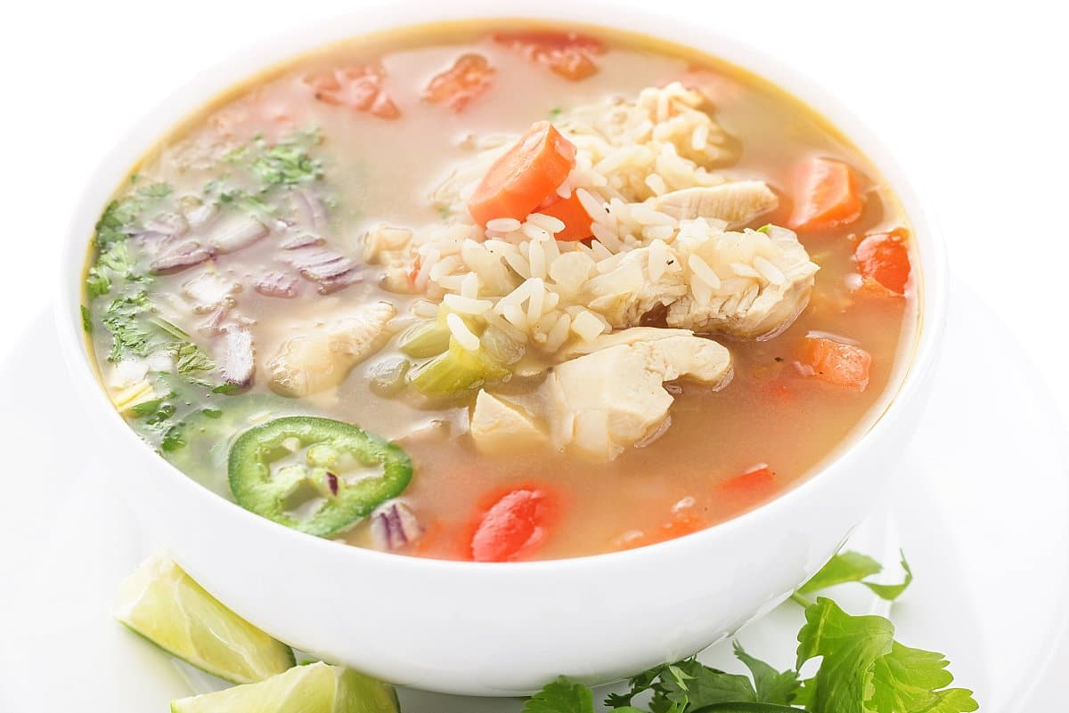 Chicken and Rice Soup with Vegetables