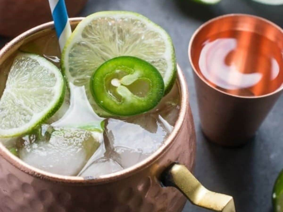 Ginger Beer Moscow Mule Cocktail