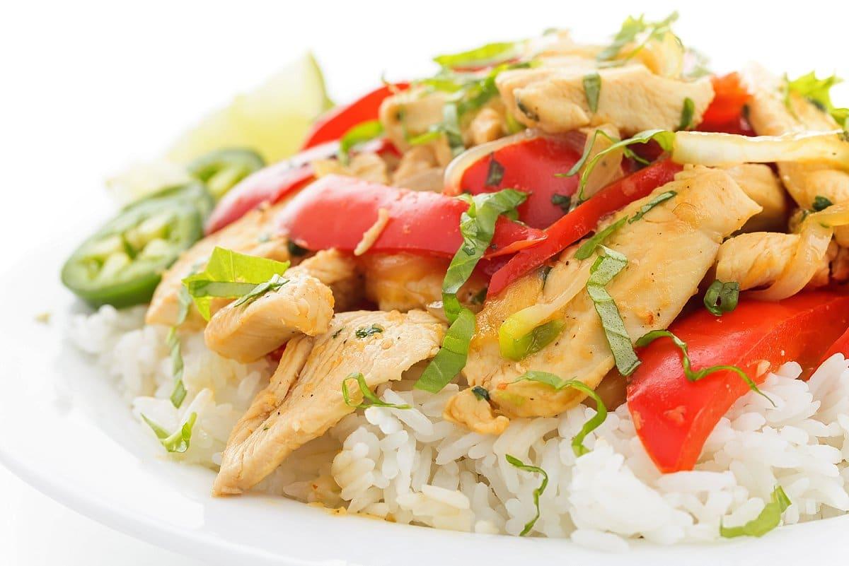 Thai Basil Chicken with Jasmine Rice