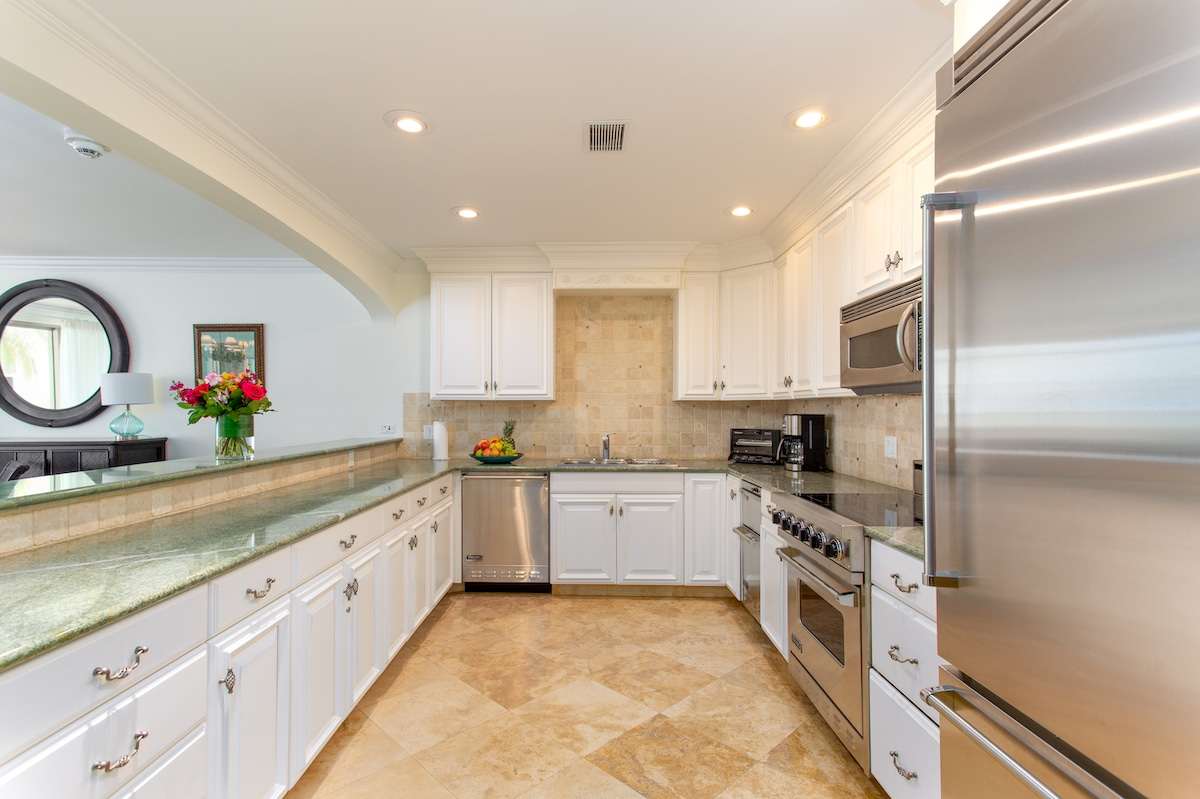 Luxury kitchen in the villas at The Somerset in Turks and Caicos