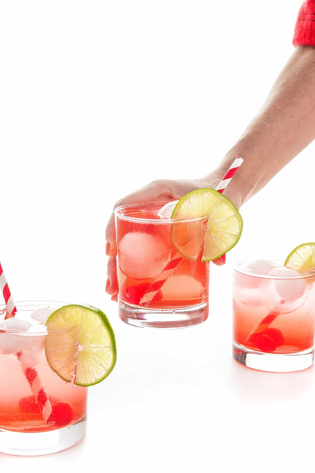 cherry vanilla vodka soda glass