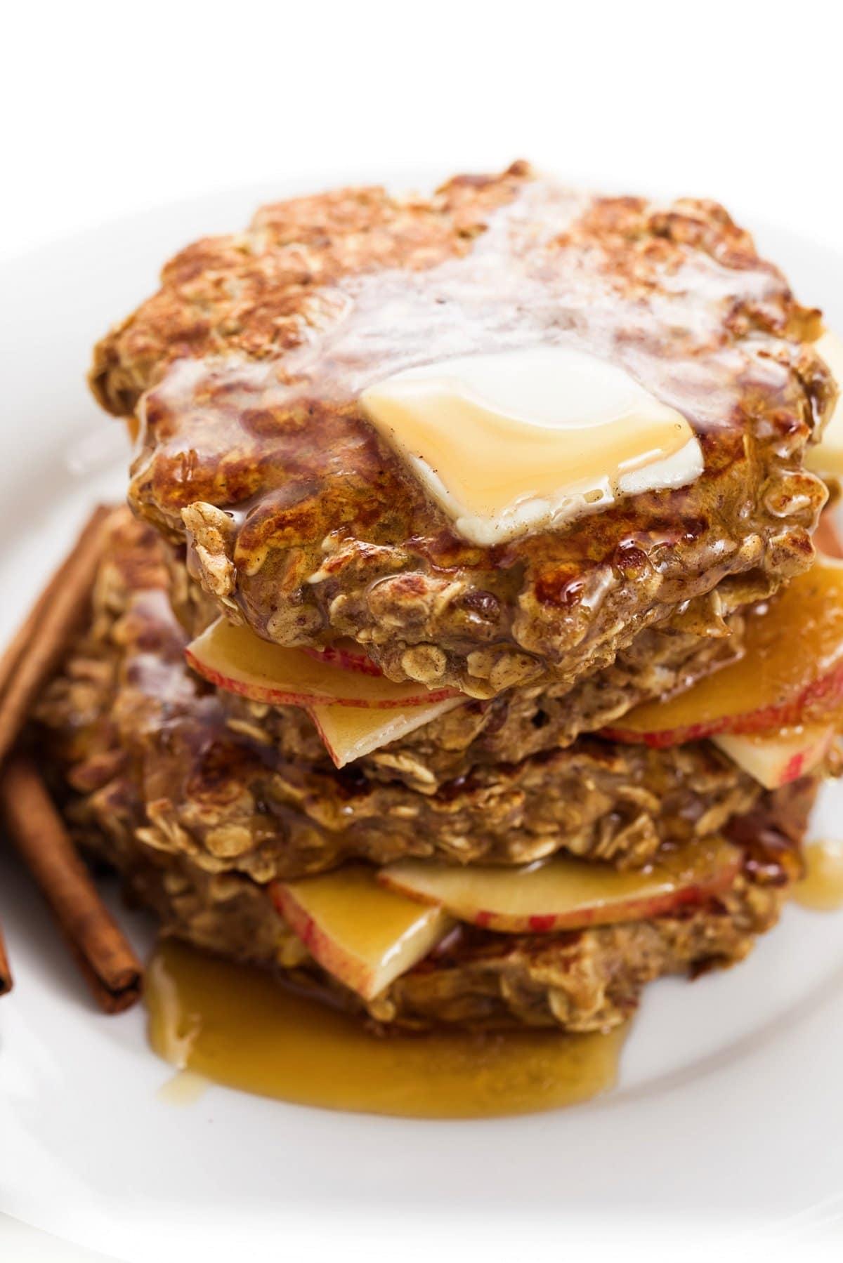 Apple cinnamon protein pancakes.